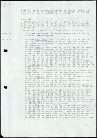 Dinteloord: Notulen gemeenteraad, 1946-1996 1980