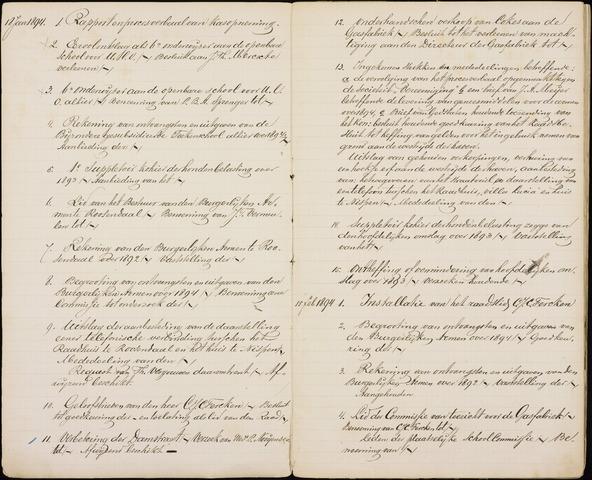 Roosendaal: Inhoudsopgaven notulen, 1849-1903 1894