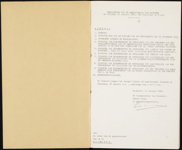 Klundert: Notulen gemeenteraad, mei 1933-1996 1961