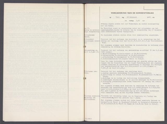 Rucphen: Notulen gemeenteraad, dec. 1949-1998 1960-01-01