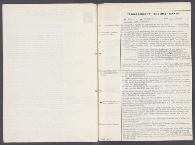 Rucphen: Notulen gemeenteraad, dec. 1949-1998 1968-01-01