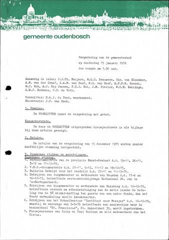 Oudenbosch: Notulen gemeenteraad, 1939-1994 1976-01-01