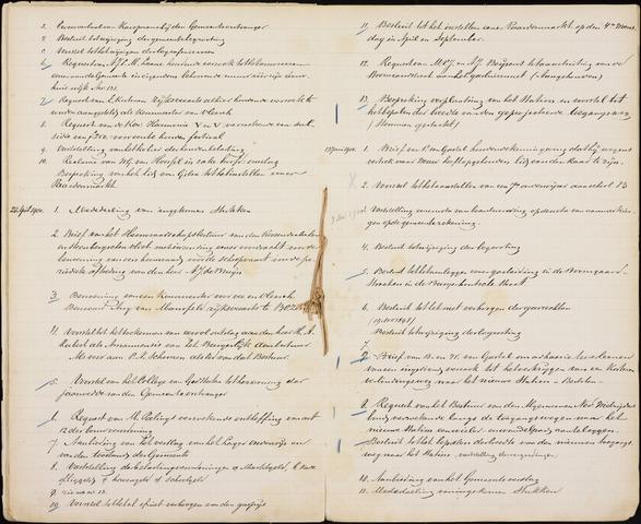 Roosendaal: Inhoudsopgaven notulen, 1849-1903 1900
