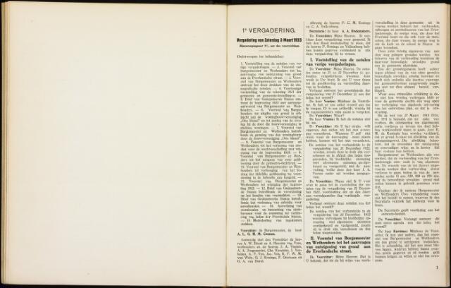 Roosendaal: Notulen gemeenteraad, 1916-1999 1923