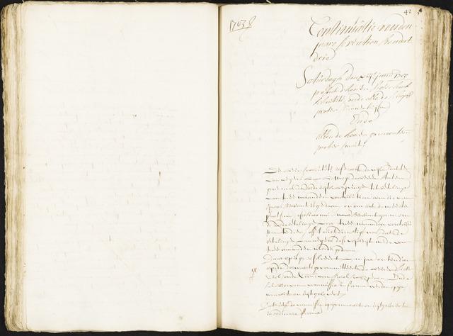 Roosendaal: Registers van resoluties, 1671-1673, 1675, 1677-1795 1703