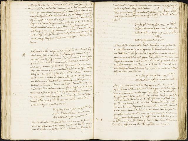 Roosendaal: Registers van resoluties, 1671-1673, 1675, 1677-1795 1727
