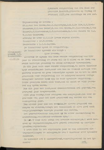 Zundert: Notulen gemeenteraad, 1934-1988 1937-01-01