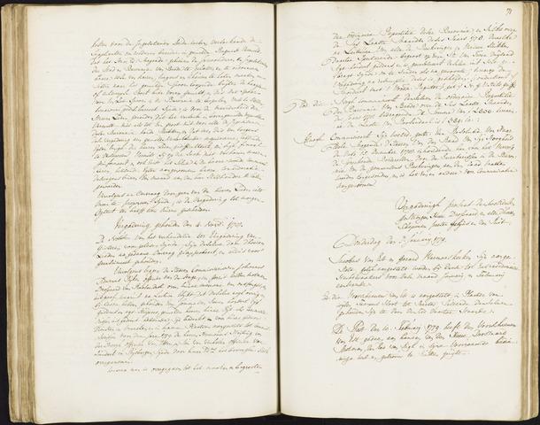 Roosendaal: Registers van resoluties, 1671-1673, 1675, 1677-1795 1779