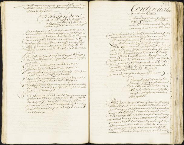 Roosendaal: Registers van resoluties, 1671-1673, 1675, 1677-1795 1743