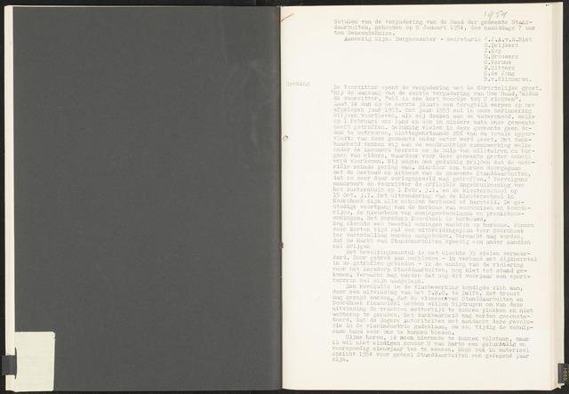 Standdaarbuiten: Notulen gemeenteraad, 1937-1996 1954-01-01