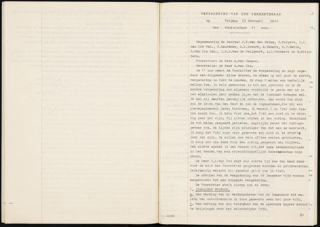 Fijnaart en Heijningen: notulen gemeenteraad, 1934-1995 1940