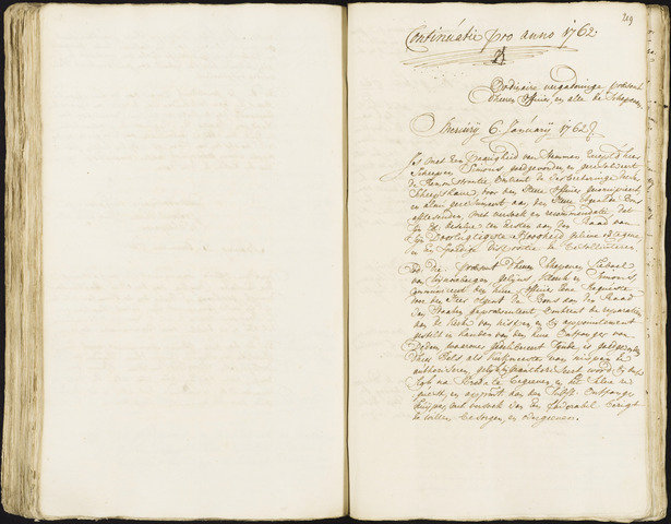 Roosendaal: Registers van resoluties, 1671-1673, 1675, 1677-1795 1762