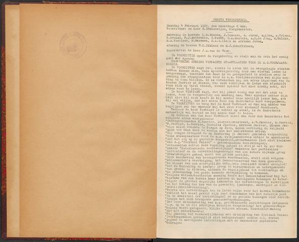 Bergen op Zoom: Notulen gemeenteraad, 1926-1996 1929-01-01