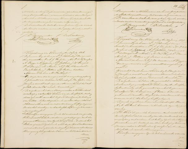 Roosendaal: Notulen gemeenteraad (besloten), 1851-1916 1856