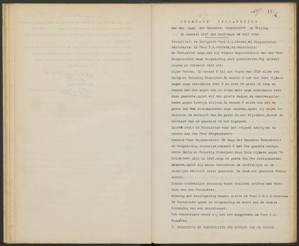 Woensdrecht: Notulen gemeenteraad, 1922-1996 1927-01-01