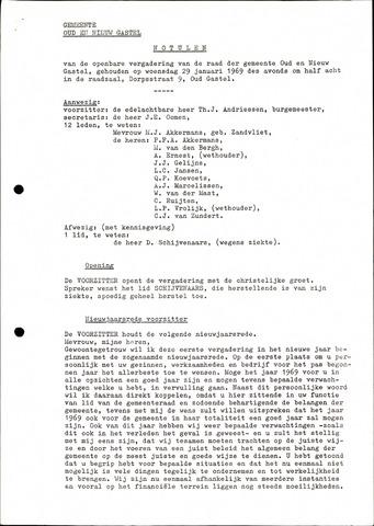 Oud en Nieuw Gastel: Notulen gemeenteraad, 1938-1980 1969-01-01