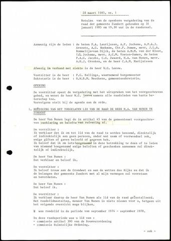Zundert: Notulen gemeenteraad, 1934-1988 1985-01-01