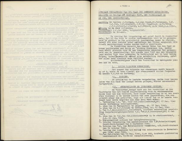 Zevenbergen: Notulen gemeenteraad, 1930-1996 1941-01-01