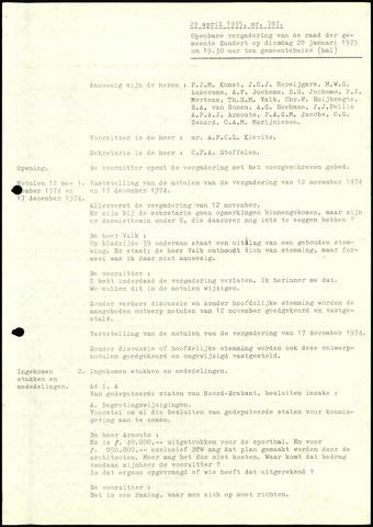 Zundert: Notulen gemeenteraad, 1934-1988 1975-01-01