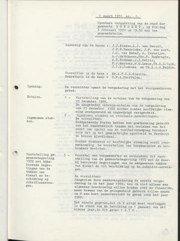 Zundert: Notulen gemeenteraad, 1934-1988 1970-01-01