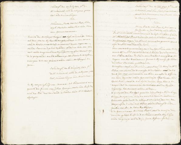 Roosendaal: Registers van resoluties, 1671-1673, 1675, 1677-1795 1708