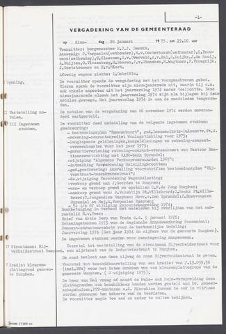 Rucphen: Notulen gemeenteraad, dec. 1949-1998 1975-01-01