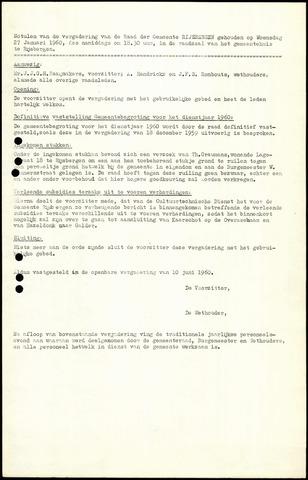 Rijsbergen: Notulen gemeenteraad, 1940-1996 1960