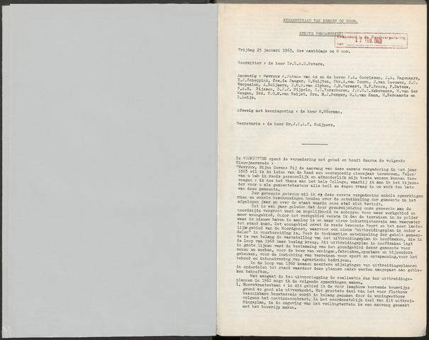 Bergen op Zoom: Notulen gemeenteraad, 1926-1996 1963-01-01
