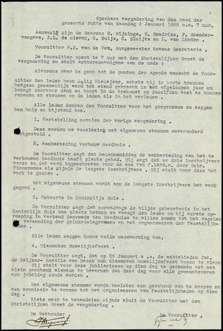 Putte: Notulen gemeenteraad, 1928-1996 1938-01-01