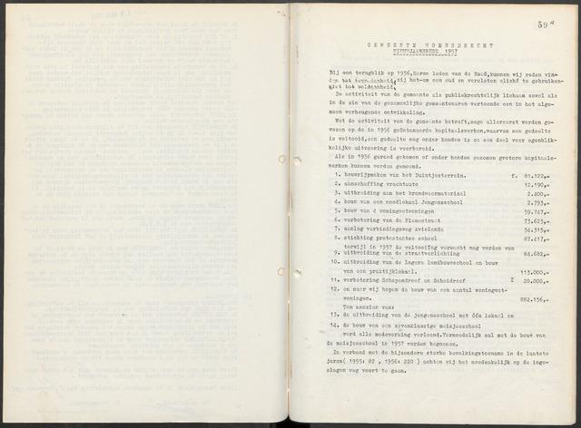 Woensdrecht: Notulen gemeenteraad, 1922-1996 1957-01-01