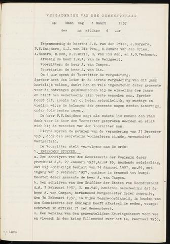 Fijnaart en Heijningen: notulen gemeenteraad, 1934-1995 1937