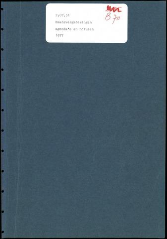 Putte: Notulen gemeenteraad, 1928-1996 1977-01-01