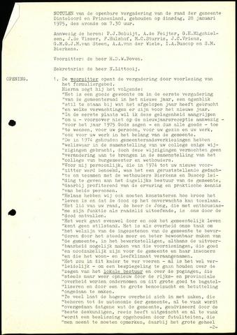Dinteloord: Notulen gemeenteraad, 1946-1996 1975