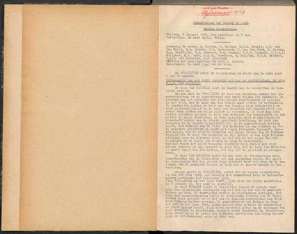 Bergen op Zoom: Notulen gemeenteraad, 1926-1996 1949-01-01