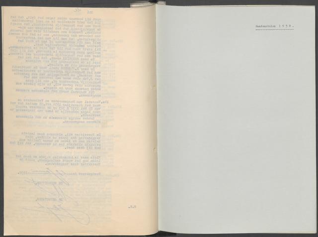 Etten-Leur: Notulen gemeenteraad, 1936-1979 1938-01-01