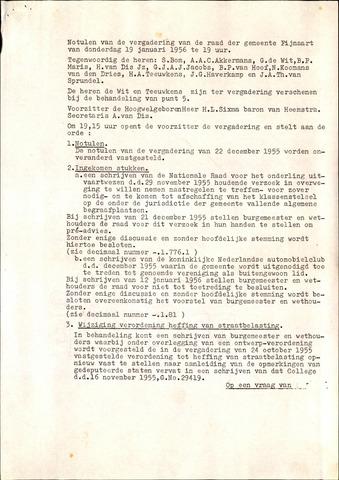 Fijnaart en Heijningen: notulen gemeenteraad, 1934-1995 1956