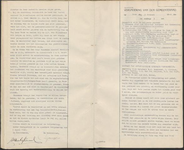 Huijbergen: Notulen gemeenteraad 1935-1996 1940-01-01