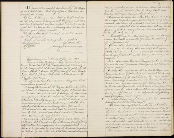 Roosendaal: Notulen gemeenteraad, 1851-1917 1899