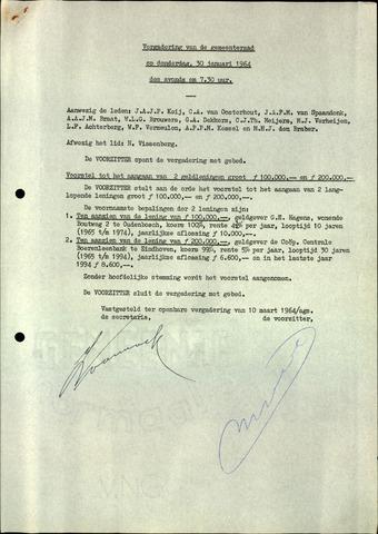 Oudenbosch: Notulen gemeenteraad, 1939-1994 1964-01-01