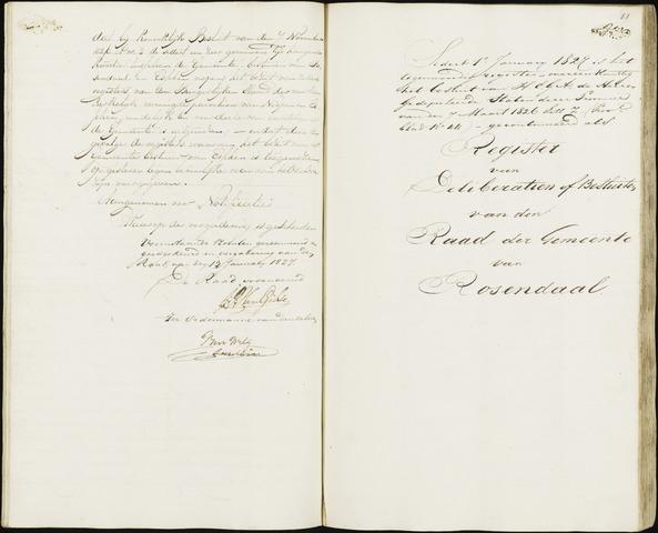 Roosendaal: Notulen 1814-1851 1827