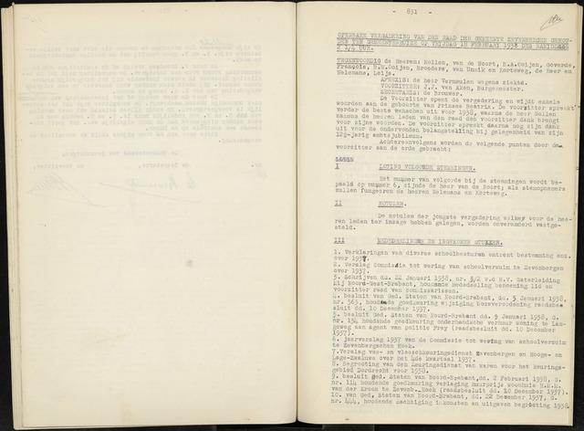 Zevenbergen: Notulen gemeenteraad, 1930-1996 1938-01-01