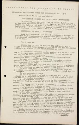 Roosendaal: Notulen gemeenteraad (besloten), 1919-1935 1927