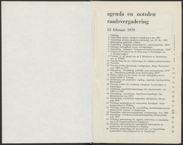 Steenbergen: Notulen gemeenteraad, 1920-1996 1970-01-01