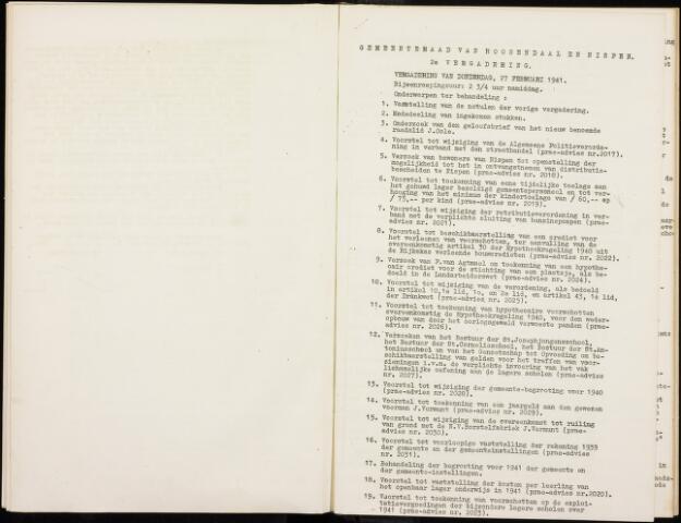 Roosendaal: Notulen gemeenteraad, 1916-1999 1941