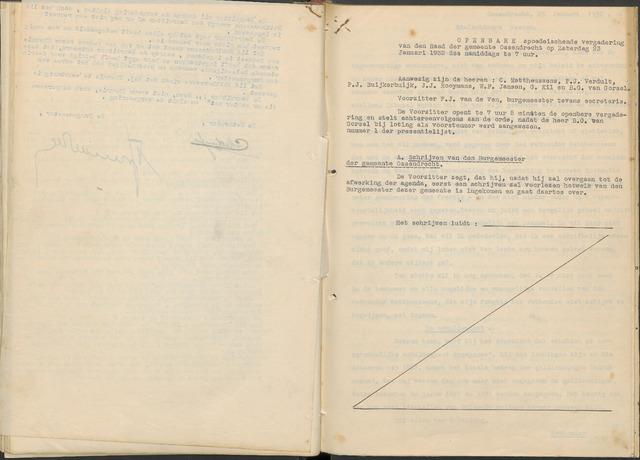 Ossendrecht: Notulen gemeenteraad, 1920-1996 1932