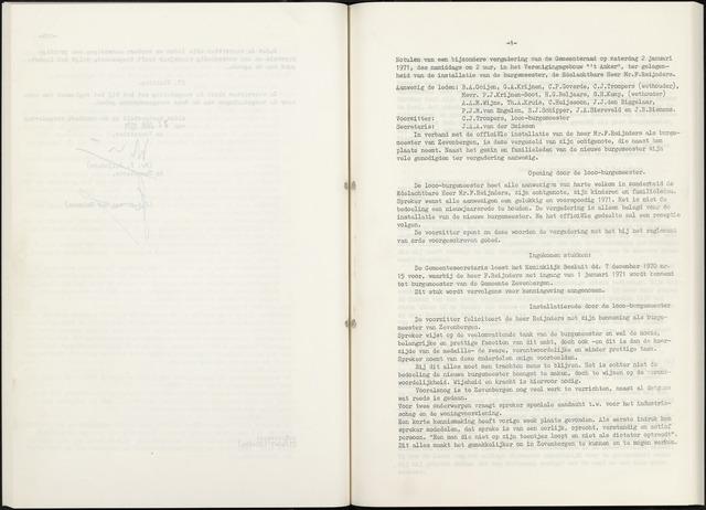 Zevenbergen: Notulen gemeenteraad, 1930-1996 1971-01-01