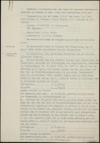 Oudenbosch: Notulen gemeenteraad, 1939-1994 1939-01-01
