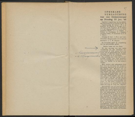 Steenbergen: Notulen gemeenteraad, 1920-1996 1946-01-01