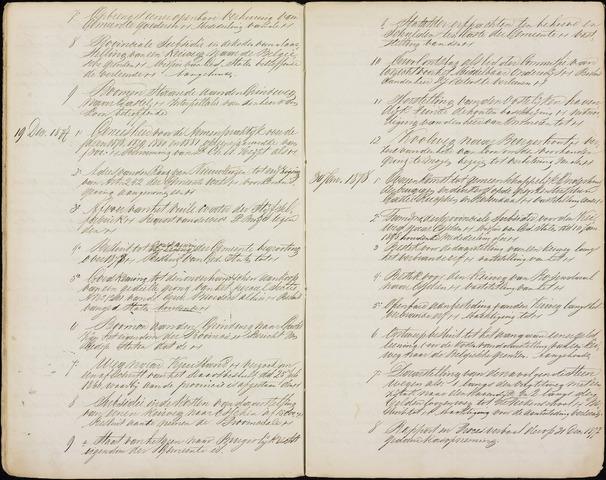 Roosendaal: Inhoudsopgaven notulen, 1849-1903 1878