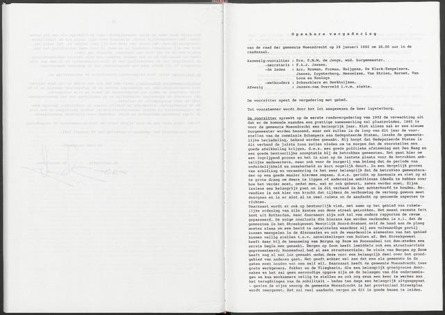 Woensdrecht: Notulen gemeenteraad, 1922-1996 1992-01-01
